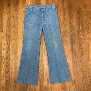 VTG 70's H.I.S. Denim jeans, wide bottoms